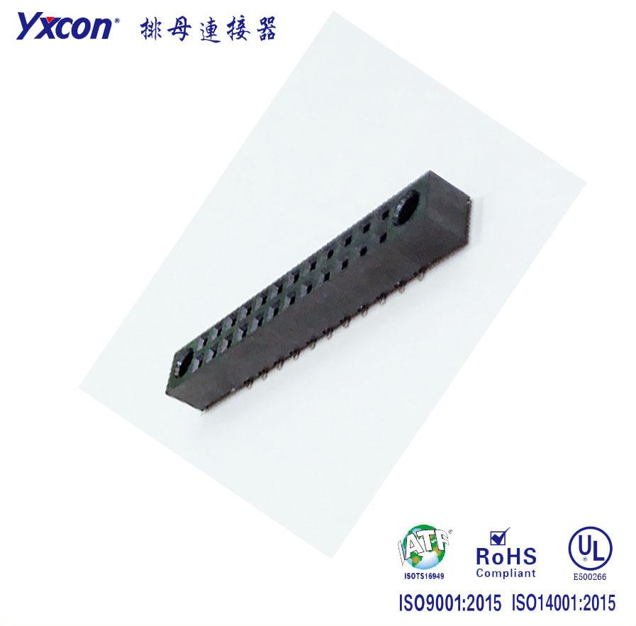 2.54双排 SMT 带导柱排母(可锁螺丝)