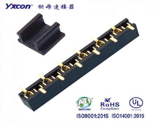 1.27单排母 塑高4.3  SMT 磷铜 耐高温 CAP+卷装 PA6T/医疗连接器