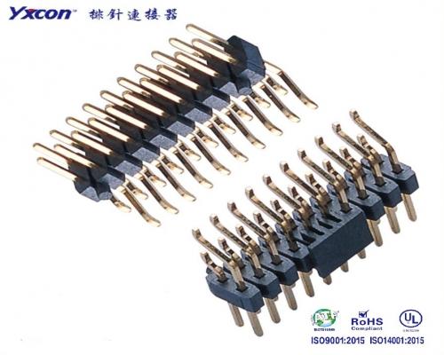 2.54排针  双排  卧式SMT 耐高温 卷装/专业化定制/显示屏/医疗连接器