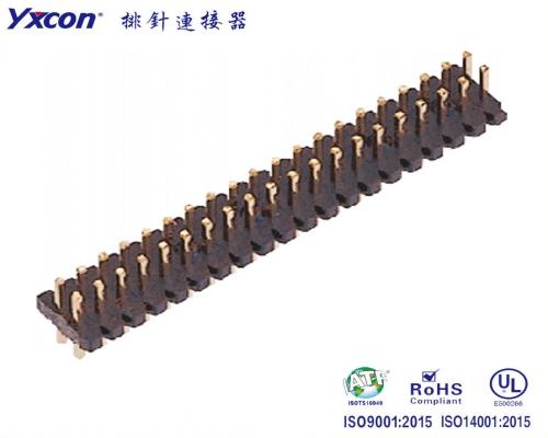 1.0排针  双排  180度  耐高温/专业化定制/电视/家电连接器
