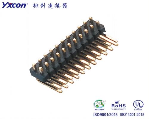 1.27-2.54 双排针 90度 耐高温/专业化定制/显示屏/医疗连接器