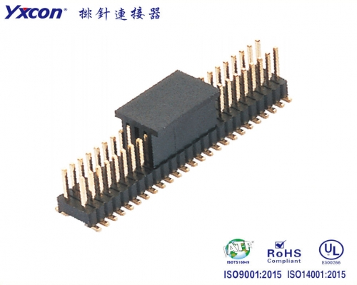 1.27-2.54排针 双排  SMT  耐高温/专业化定制/校园智能/智能识别连接器