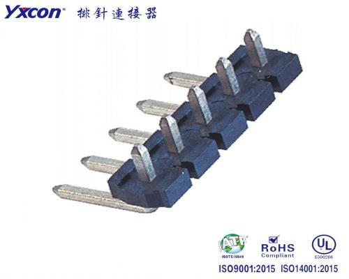 5.08 排针 塑高2.5 单排  90度 镀锡 LCP 针长可定制/专业化定制/电视/家电连接器