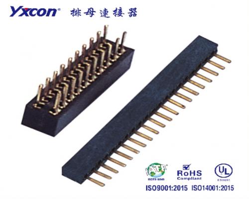 1.0排母  双排  180度  U型  PA6T  塑高2.1/专业化定制/应用于电脑/电表连接器