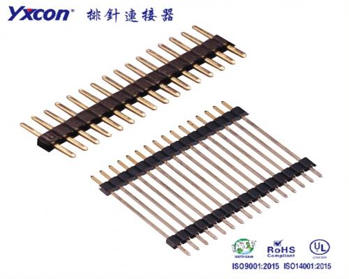 2.0排针 单排 单塑/双塑 180度 针长可定制 PA6T/专业化定制/车载充电器连接器