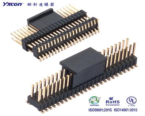 1.27排针 2.54排距 双排 单塑/双塑 SMT/专业化定制/电视/家电连接器