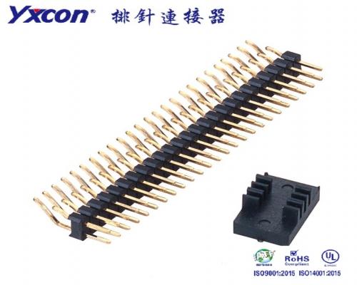 2.0排针 单塑 双排 卧贴 卷装 PA6T/专业化定制/电视/家电连接器