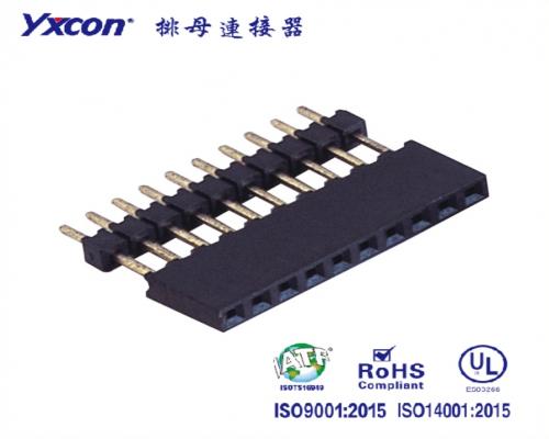 2.0排母  单排  180度  Y型  PA6T  加一层排针塑胶/专业化定制/显示屏/医疗连接器