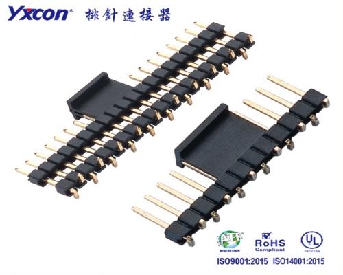 2.54排针 单排 单塑/双塑 SMT 尺寸可定制 PA6T 卷装/专业化定制/电视/家电连接器