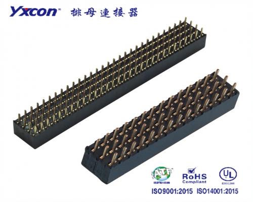 2.0排母 塑高6.35  三排  3X25P 180度  Y型  PA6T/专业化定制/LED显示屏连接器/音响连接器