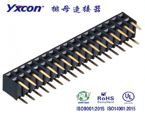 2.0排母 塑高4.9 双排 2X15P 180度  侧插U型  PA6T/专业化定制/新能源汽车等各种板对板连接
