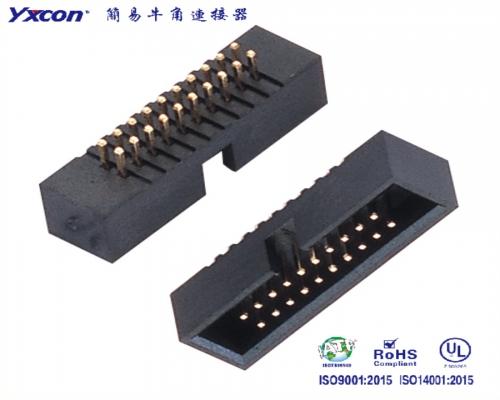 1.27简牛连接器 180度 配IDC PA6T/专业化定制/应用于电脑/电表连接器