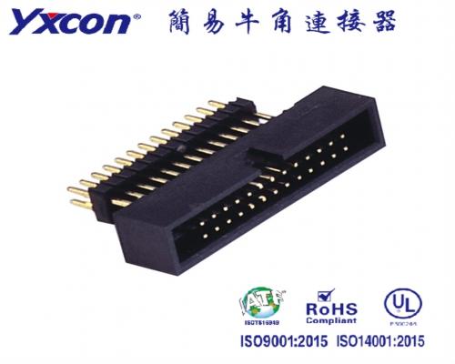 1.27简牛 加高 配IDC 180度 PA6T/应用于电脑/电表/电视/家电/显示屏/医疗/新能源汽车等各种板对板连接