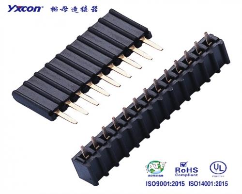 2.54排母 塑高8.5 单排  180度  U型  PA6T 波浪型塑胶/专业化定制/电视/家电连接器