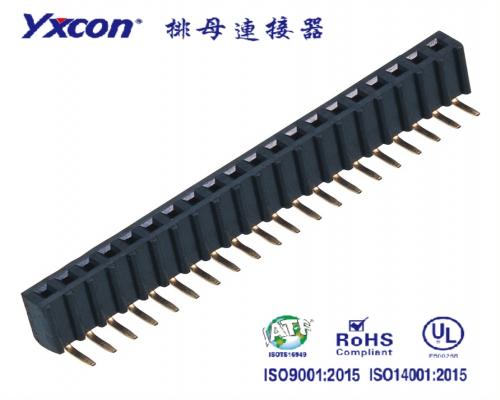2.54排母 塑高8.5 单排  90度  U型  PA6T  塑胶波浪型/专业化定制/应用于电脑/电表连接器