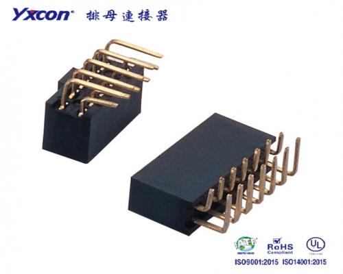 2.54排母 塑高8.5 双排  90度  Y型  PA6T/专业化定制/新能源汽车等各种板对板连接