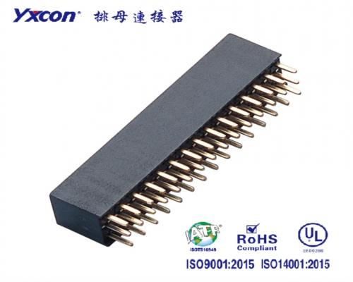 2.54排母 塑高8.5 三排  180度  Y型  PA6T/专业化定制/显示屏/医疗连接器