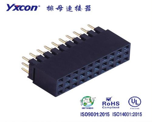 2.54排母 塑高8.5 三排  180度  Y型  PA6T  加高排母/专业化定制/电视/家电连接器