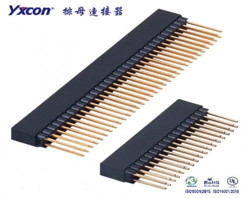 2.54排母 塑高8.5 双排  180度  Y型  PC104 PA6T/专业化定制/显示屏/医疗连接器