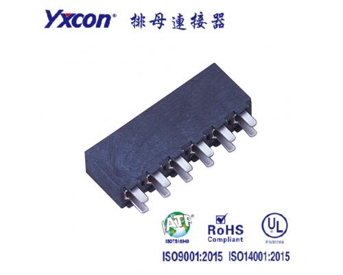 3.96排母 塑高8.9 单排  180度  U型 镀锡/镀金 LCP/专业化定制/应用于电脑/电表连接器