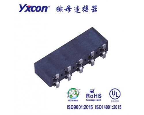 3.96排母 塑高8.9  单排  SMT  U型 镀锡/镀金 LCP/专业化定制/电视/家电连接器