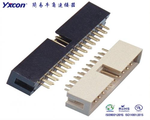2.54简牛 塑高9.0 黑色/灰色180度 PA6T/应用于电脑/电表/电视/家电/显示屏/医疗/新能源汽车等各种板对板连接