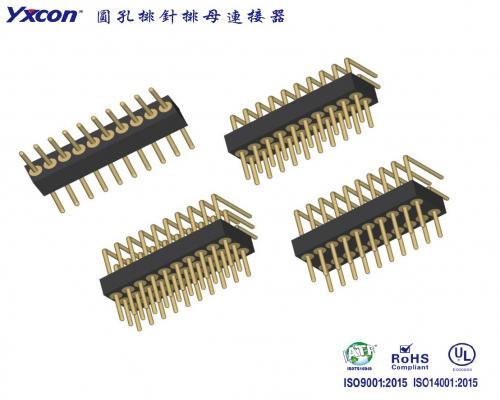 1.27圆孔排针 单排/双排 90度  系列/应用于电脑/电表/电视/家电/显示屏/医疗/新能源汽车等各种板对板连接