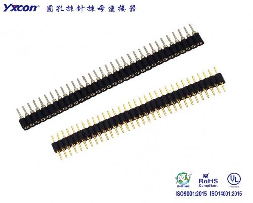 2.54圆针排针  H=3.0 单排180度 PPS/应用于电脑/电表/电视/家电/显示屏/医疗/新能源汽车等各种板对板连接