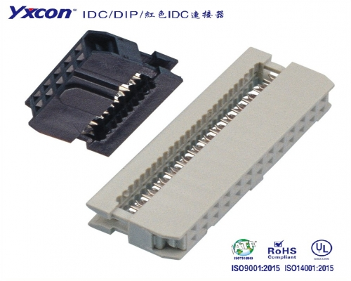 2.54IDC  系列  三件式 Y型/校园智能/智能识别/电脑/显示屏/线对板连接器