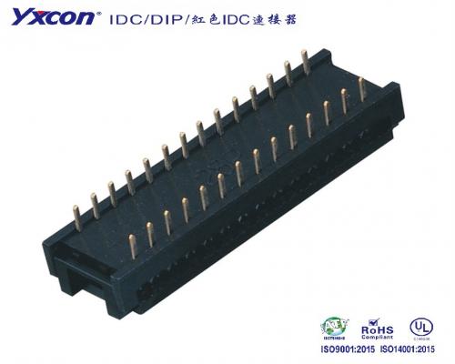 1.27DIP 2.54排距 系列 压排线/校园智能/智能识别/电脑/显示屏/线对板连接器