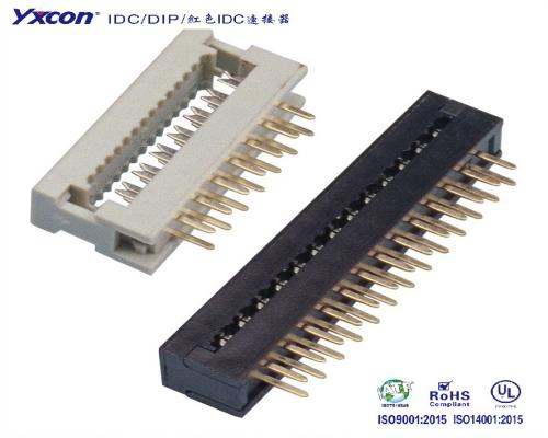 2.54DIP  系列  两件式 压排线/校园智能/智能识别/电脑/显示屏/线对板连接器