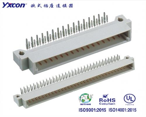 2.54欧式插座  双排  90度系列  公头/可按照客户需求开模定制/高性能连接器/