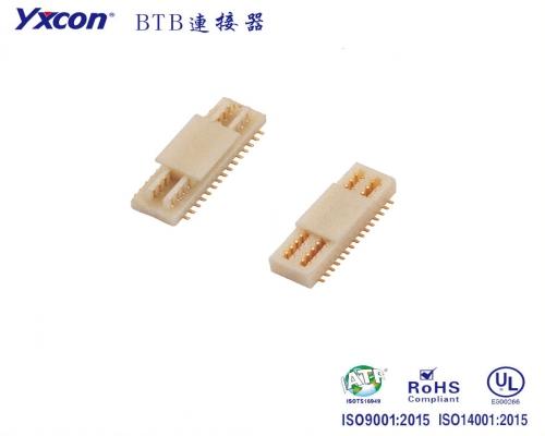 0.8mm  BTB 公母头   双槽  SMT/高速连接器/高频率连接器/0.3mm间距/0.5mm间距/0.6mm间距/0.8mm间距