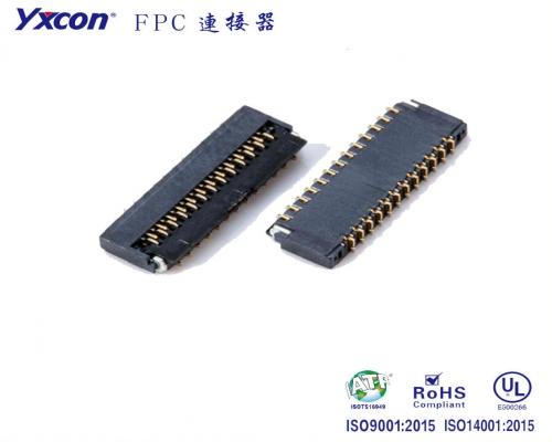 0.3mm 间距  1.0mm高 翻盖式 FPC