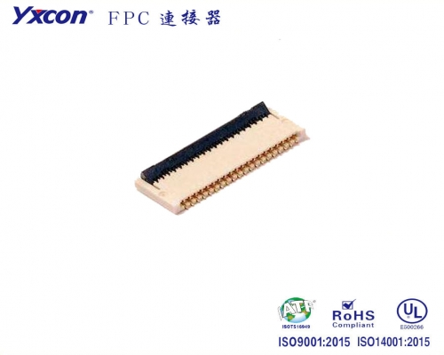0.3mm 间距 1.2mm 高 后翻式FPC