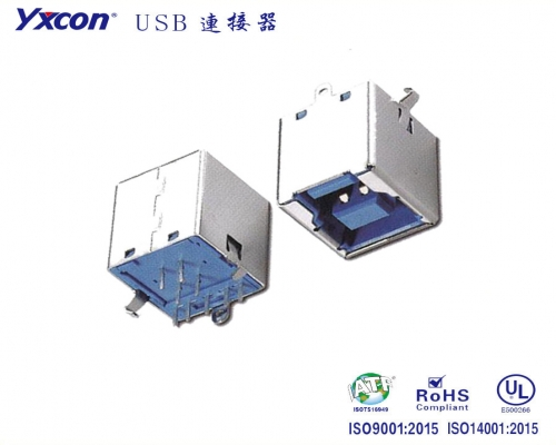 USB3.0 BF 180插板应用于电脑/电表/电视/家电/显示屏/医疗/新能源汽车等各种板对板连接