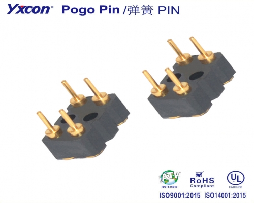 5.08 mm间距  Pogo Pin 连接器/可按照客户需求开模定制/高性能连接器/大电流连接器