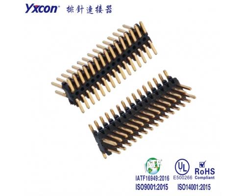 0.8mm 排针连接器  双排  SMT 镀金 PA9T/应用于电脑/电表/电视/家电/显示屏/医疗/新能源汽车等各种板对板连接