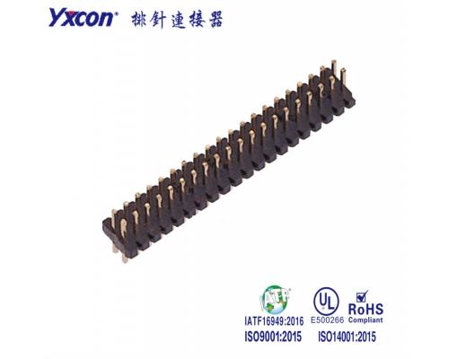 1.27排针 双排 单塑/双塑 180度 针长可定制 PA6T排针, 针座, 插针, 单排针 ,双塑排针