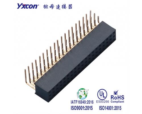 2.54排母 塑高8.5 三排  90度  Y型  PA6T/专业化定制/应用于电脑/电表连接器