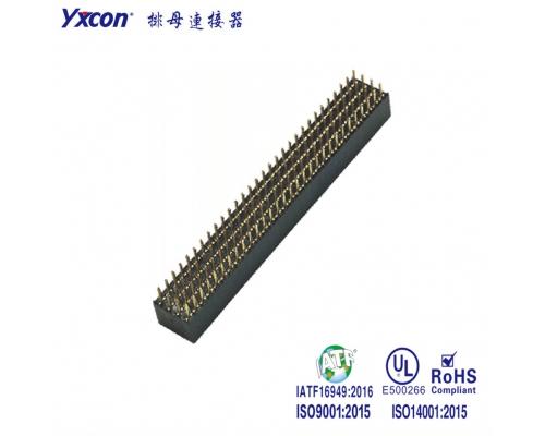 2.0排母 塑高6.35 四排 4X40P 180度 Y型 PA9T/专业化定制/显示屏/医疗连接器