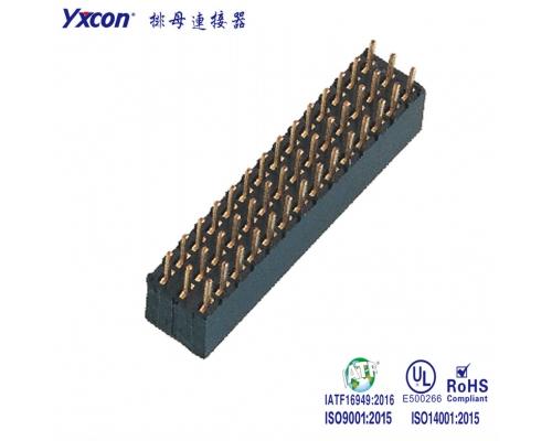 2.0排母 塑高6.35mm 三排 3X14P  180度  Y型 PA9T/专业化定制/LED显示屏连接器/音响连接器