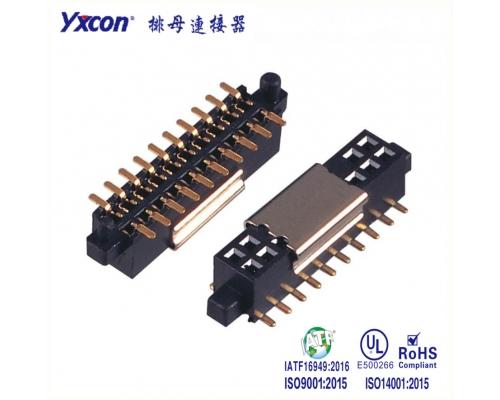 1.27双排母  塑高4.3   SMT 带大小外柱 磷铜 耐高温 PA6T/专业化定制/显示屏/医疗连接器