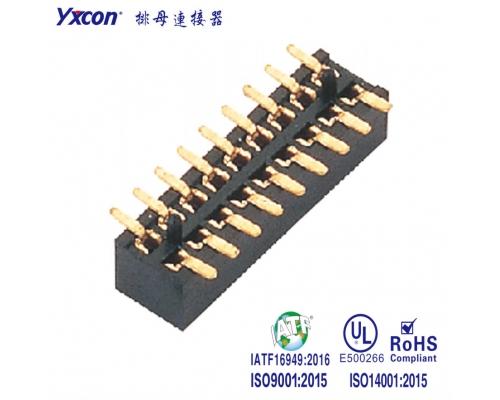 1.0排母 塑高2.1 双排  SMT  带柱  管装/专业化定制/校园智能/智能识别连接器