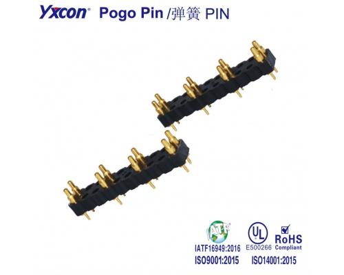 7.62 mm间距  Pogo Pin 连接器/可按照客户需求开模定制/高性能连接器/大电流连接器
